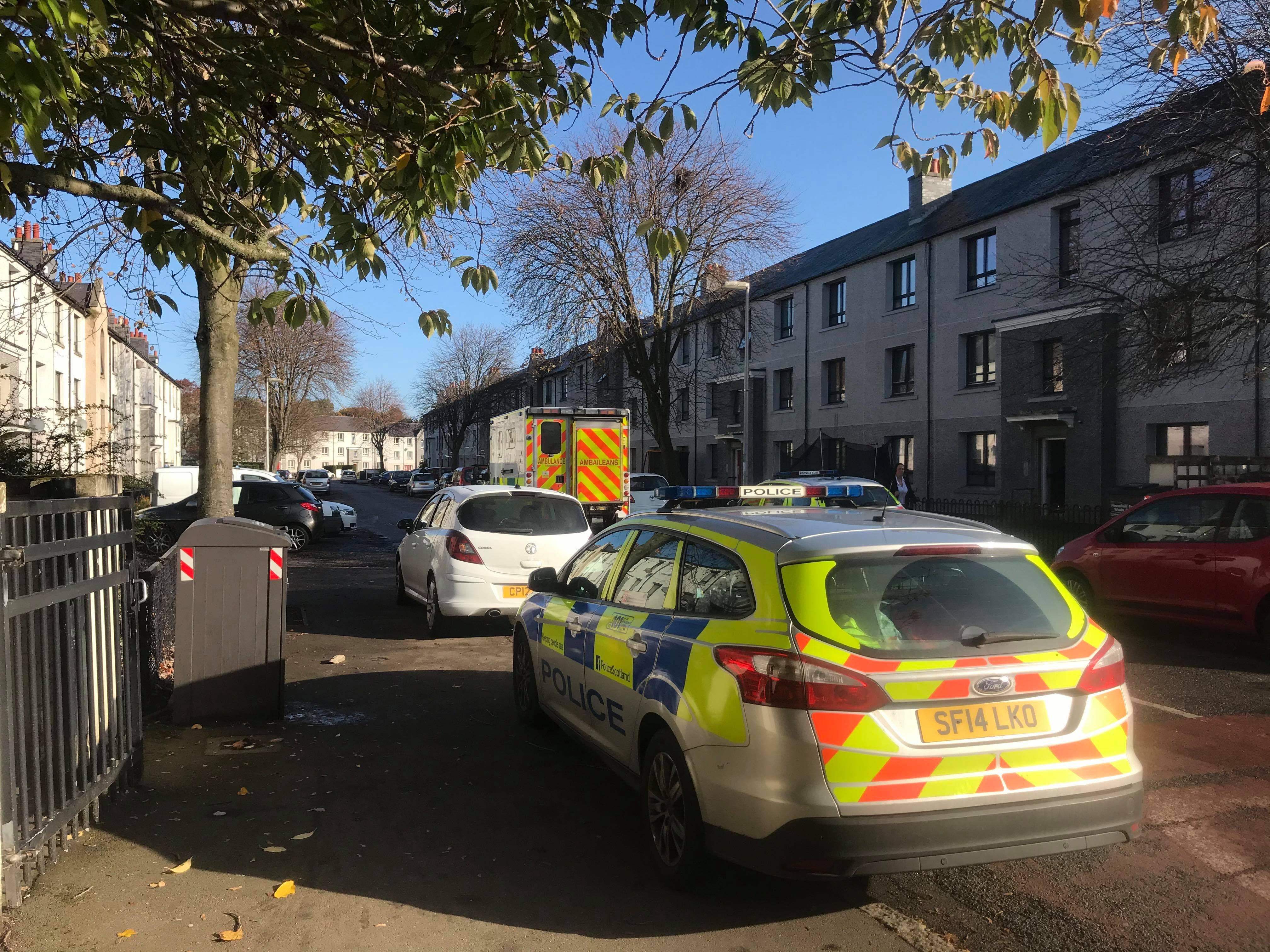 Emergency crews were sent to Froghall Avenue this morning.