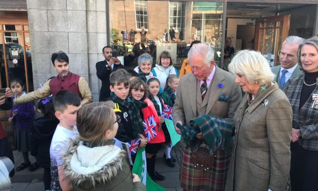 Members of the Global Gang meet the Duke and Duchess of Rothesay