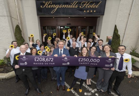 Kingsmills Hotel Group are aiming to raise £50,000 next year after exceeding their initial £200,000 fundraising target.