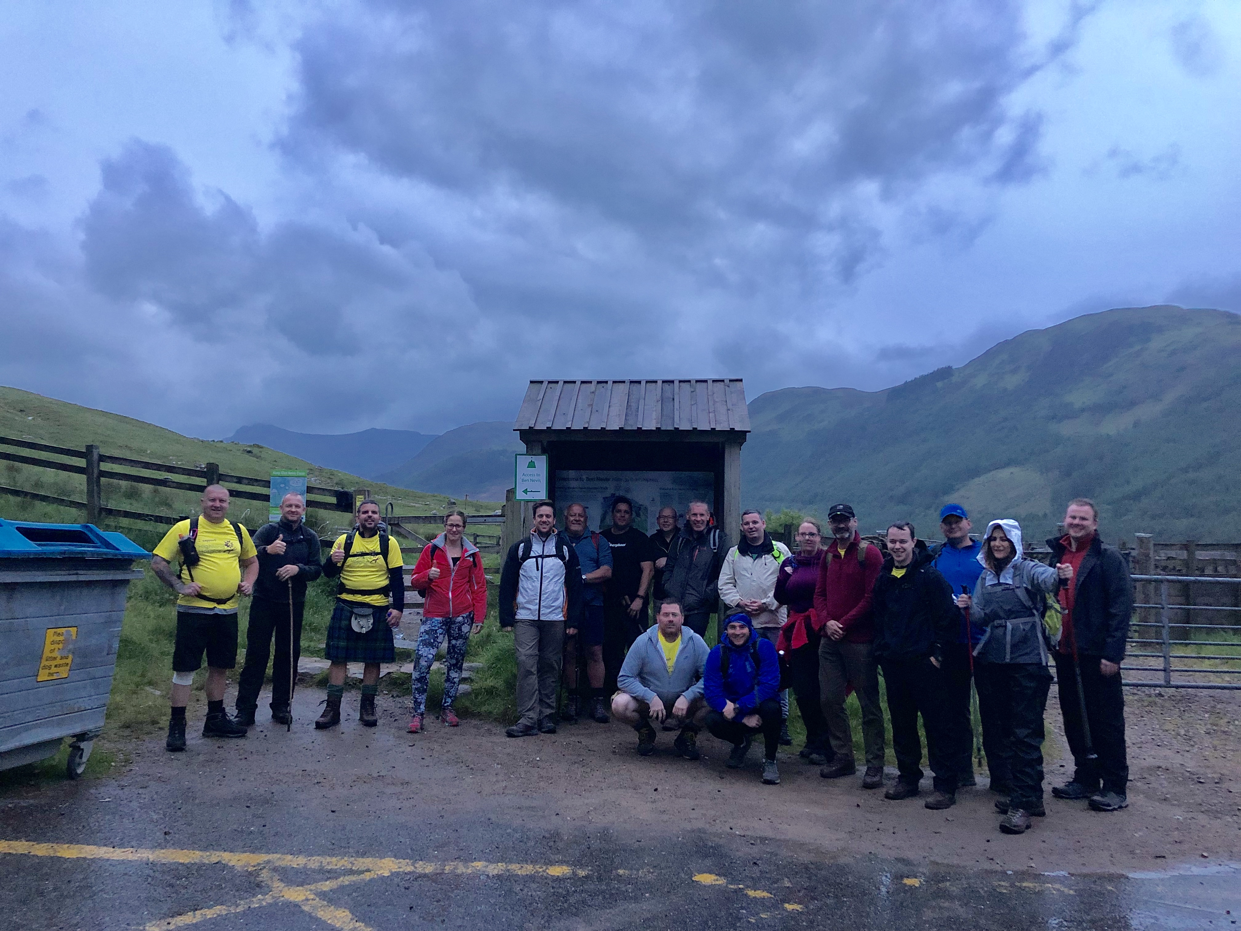 Staff from SSEN Transmission climbed Ben Nevis alongside colleagues from Balfour Beatty and TerraFirma in aid of local charities Lochaber Hope and Highland Hospice.