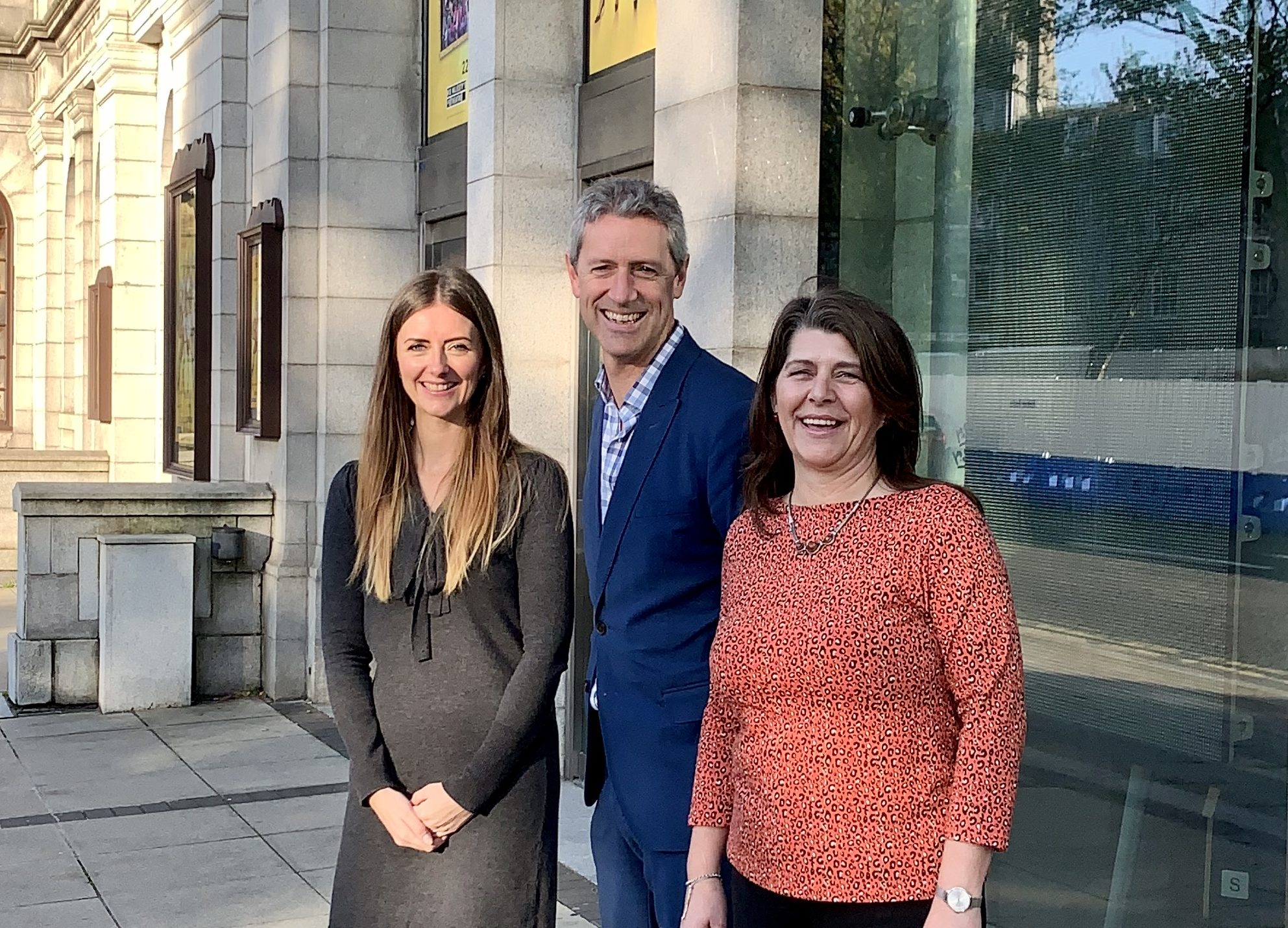 -  Jo Robinson Regional Director VisitScotland, Chris Foy Chief Executive VisitAberdeenshire and Marie Boulton, Cultural Spokesperson Aberdeen City Council at this morning's launch of the music competition.