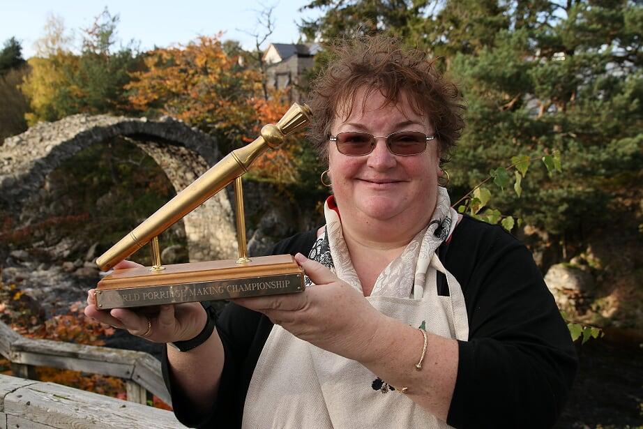 World Porridge Champion Lisa Williams. Picture by James Ross