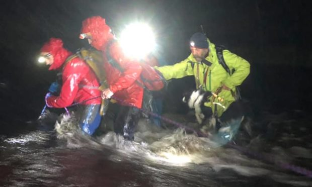 Lochaber Mountain Rescue Team during the search.