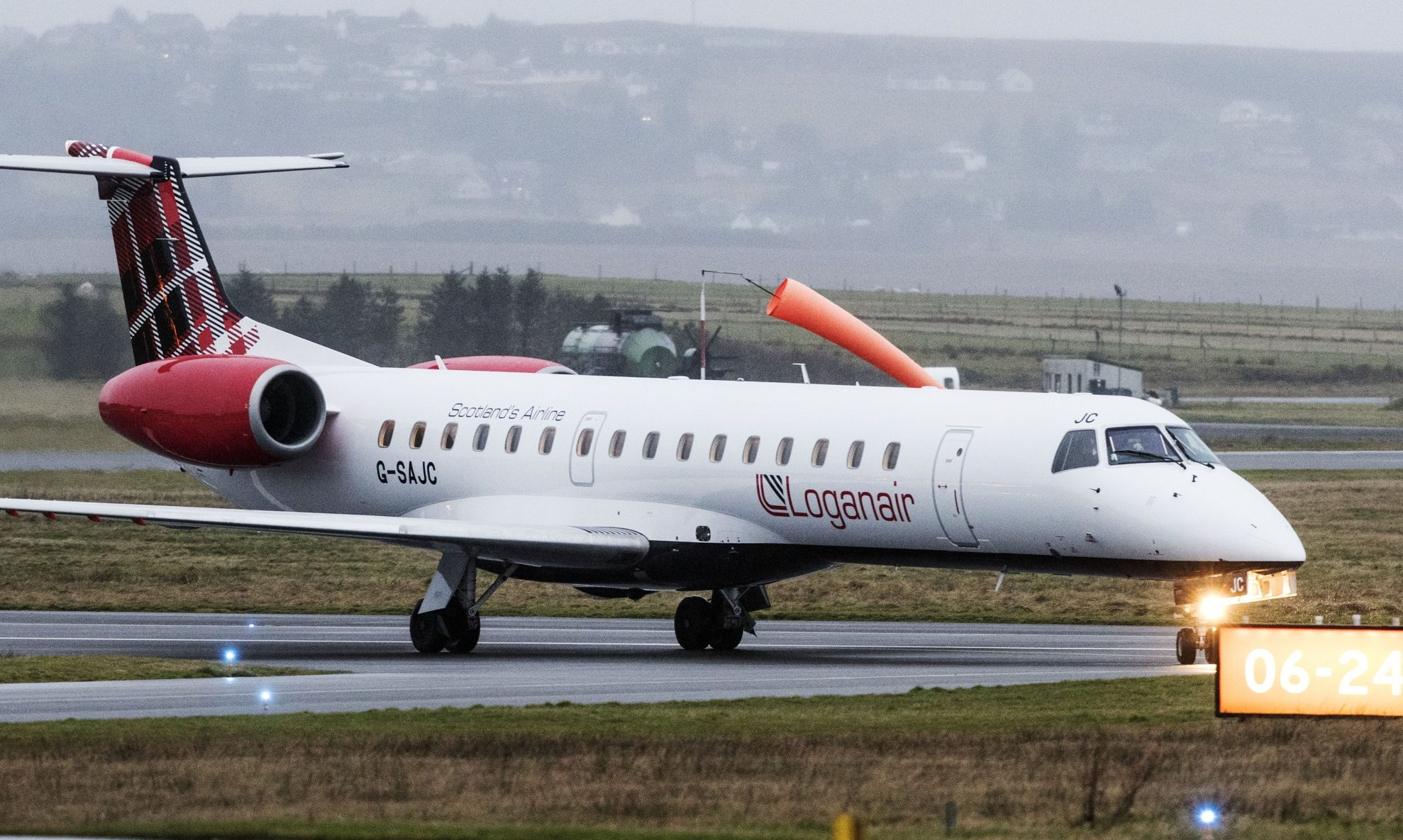 A Loganair Embraer 145.