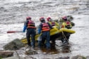 Fire crews and coastguard personnel worked together in a training drill. Picture: MCA.