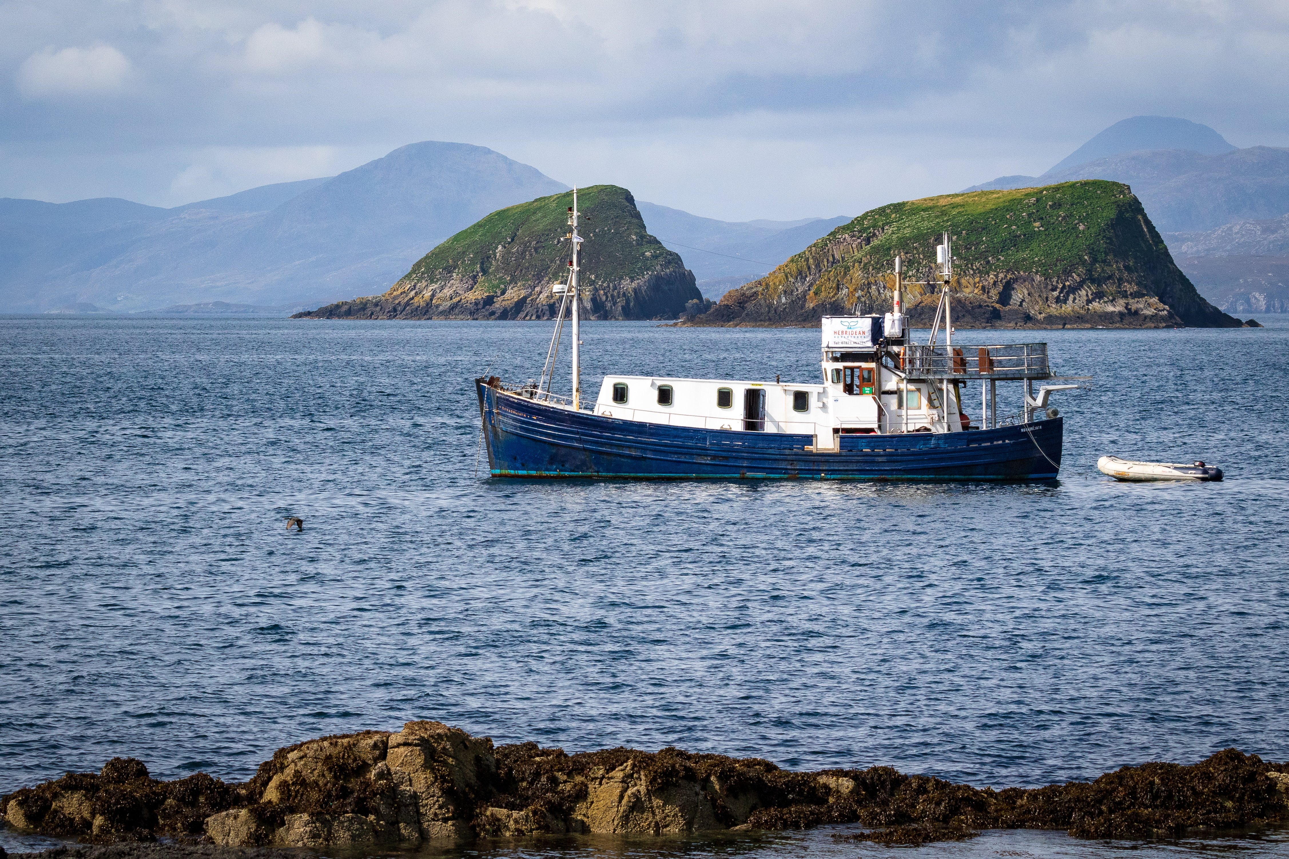 MV Monadhliath with the Shiants in the background. Picture courtesy of Paul Sharman