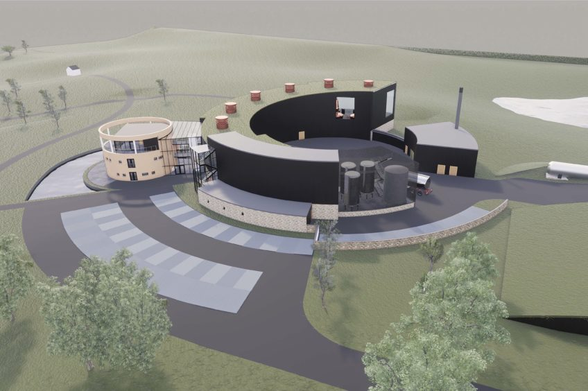 An artists impression of the distillery for Grantown which has been approved by Cairngorm National Park Authority planners