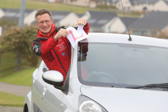 William Sichel at the of 66 passed his driving test after driving legally on public roads  for over thirty years.