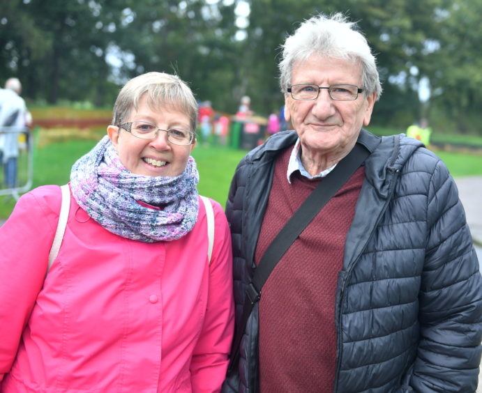 CR0014953 Pictures for YL from the Steam Engine day at Grampian Transport Museum Pictured from left are, Anne and Richard Mitchell. Pic by...............Chris Sumner Taken..............6/10/19