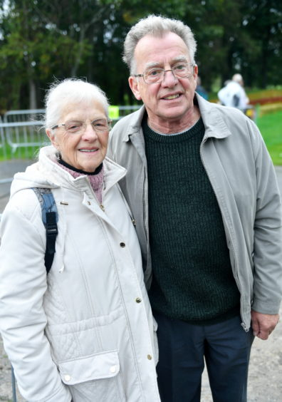 CR0014953 Pictures for YL from the Steam Engine day at Grampian Transport Museum Pictured from left are, Betty Fletcher and Peter Lovatt. Pic by...............Chris Sumner Taken..............6/10/19