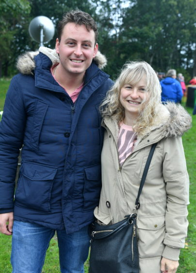 CR0014953 Pictures for YL from the Steam Engine day at Grampian Transport Museum Pictured from left are, Calvin and Liene Leiper cor. Pic by...............Chris Sumner Taken..............6/10/19