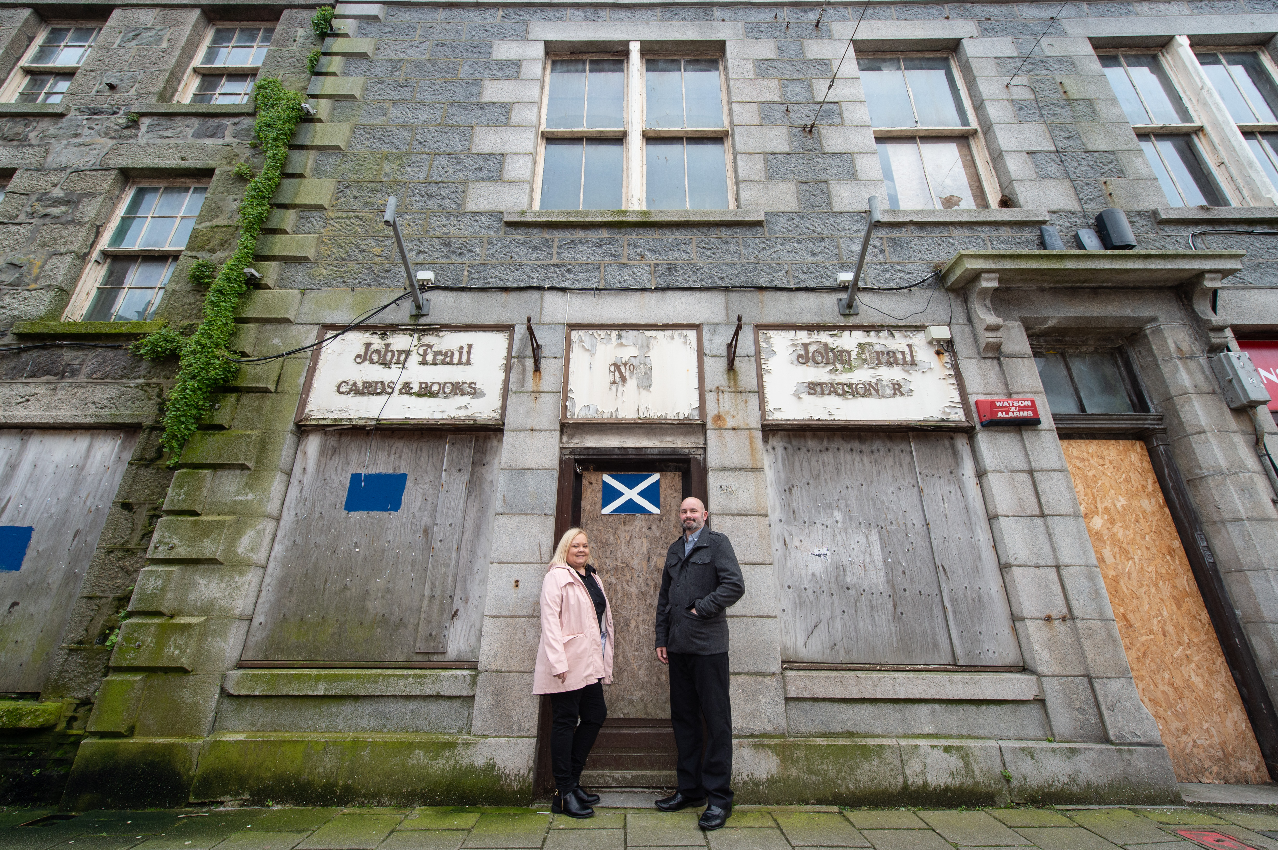 Hoteliers, David and Sharon Watt of the Davron Hotel, Roseheart are transforming the run down John Trail Building in Fraserburgh into a new hotel.