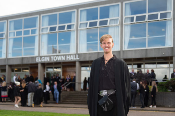 Robbie Mungersdorf pictured at Elgin Town Hall, Moray.