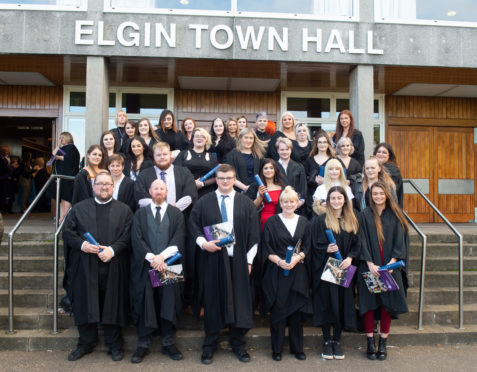 Graduates are pictured at Elgin Town Hall, Moray.