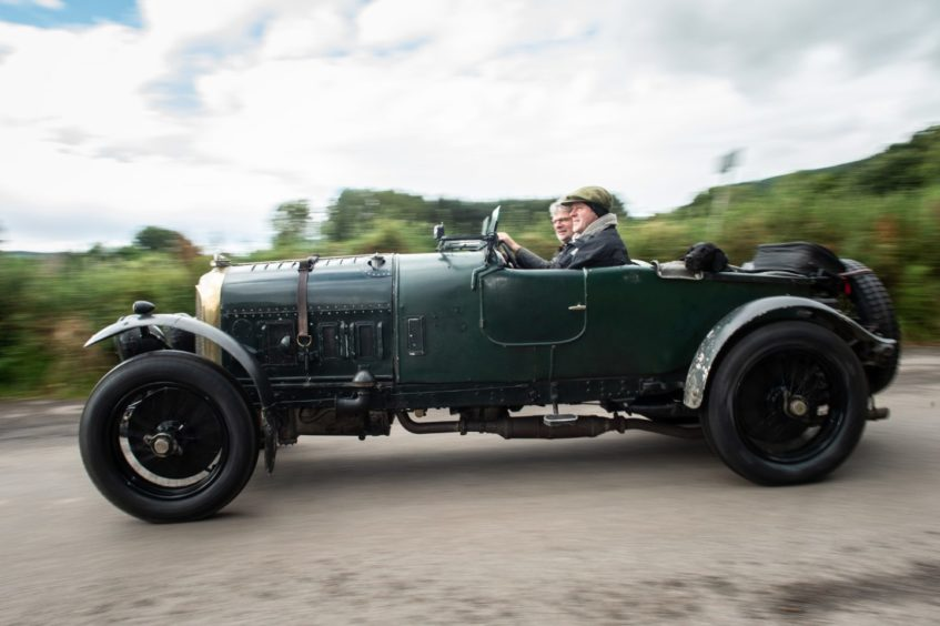 Ian Murray with his 1922 Bentley. Picture by Jason Hedges