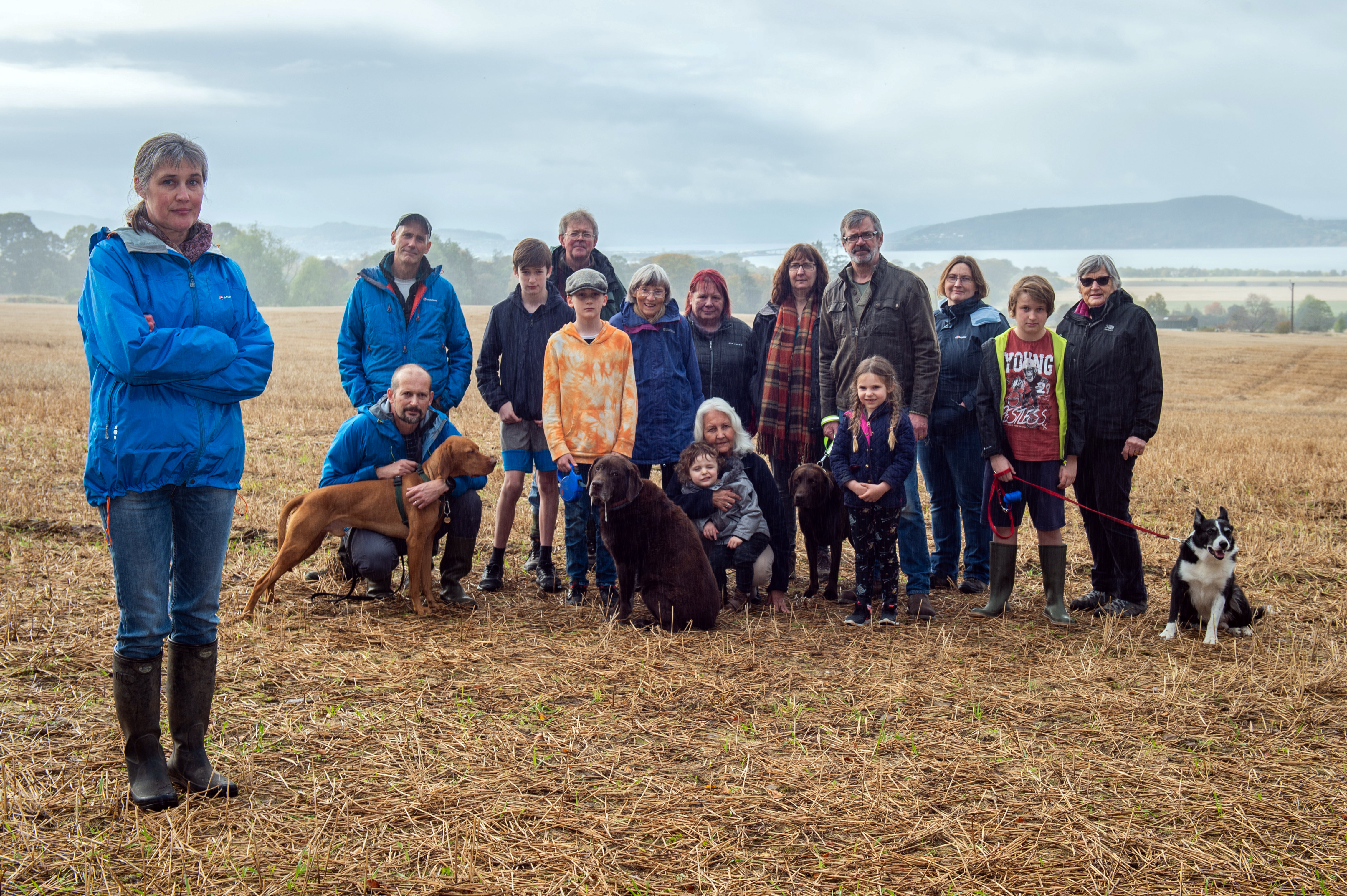 Melanie Smith (Baloch & Culloden Communities Lead of Save Our Space Campaign), left, with villagers who oppose the proposed development. Picture by Jason Hedges