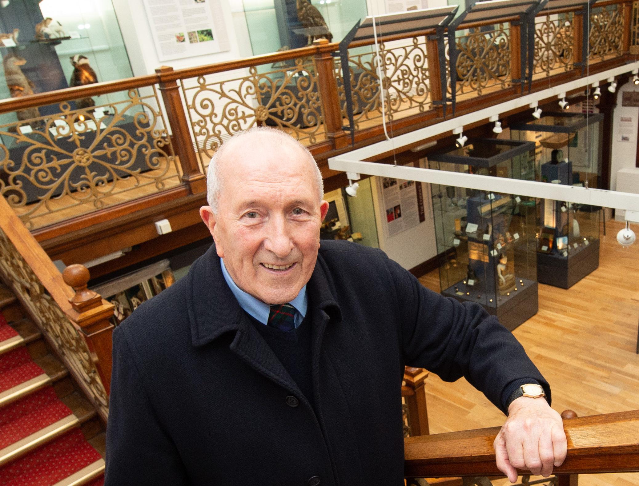 Gordon Ferguson inside the Falconer Museum. Picture by Jason Hedges