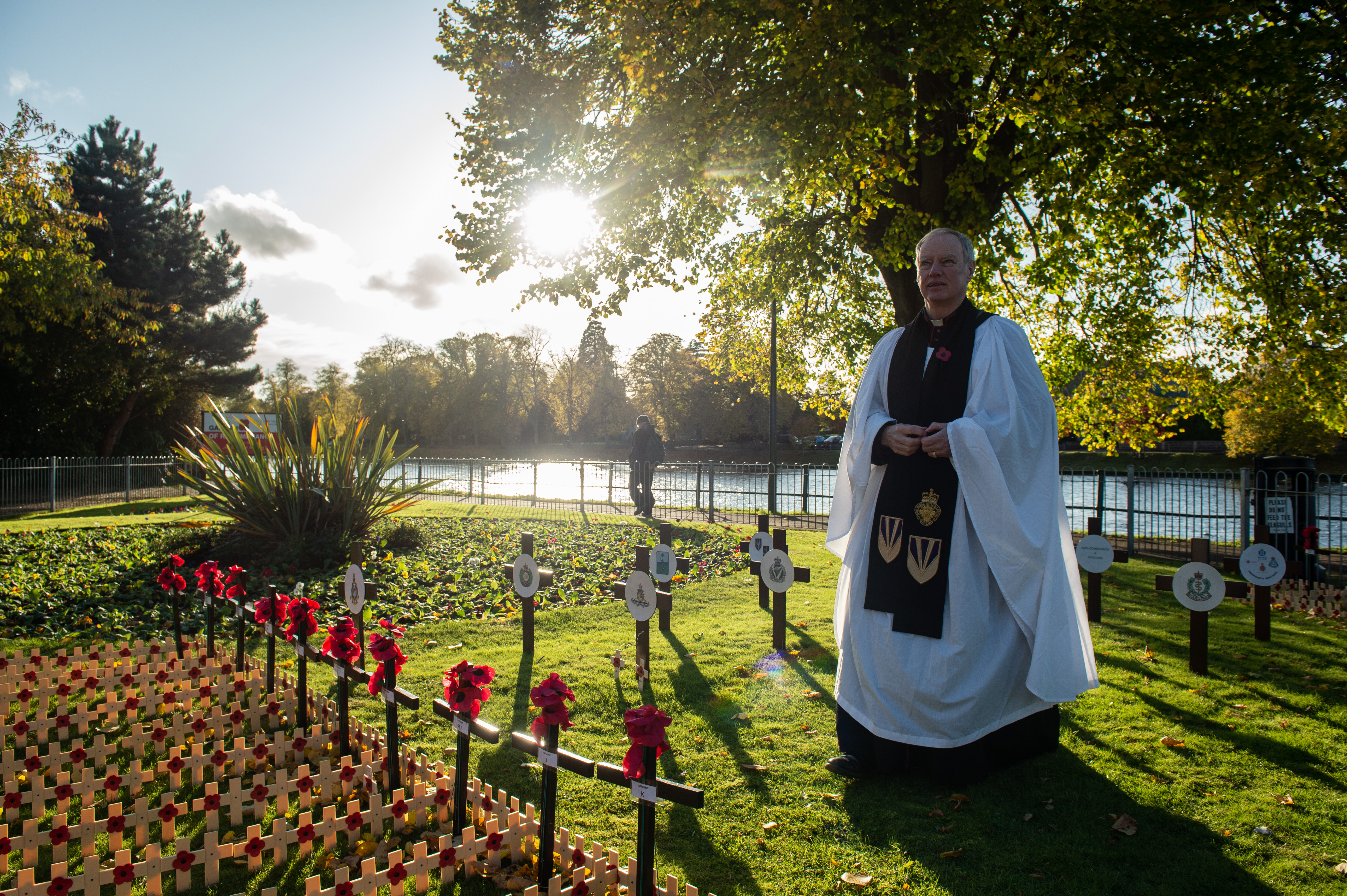 Pictures by JASON HEDGES     Pictures show the official Garden of Rememberance opening in Inverness today. Picture:Vicar John Cuthbert wonders through the garden Pictures by JASON HEDGES