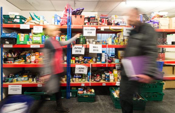Volunteers at work at Moray Food Plus.