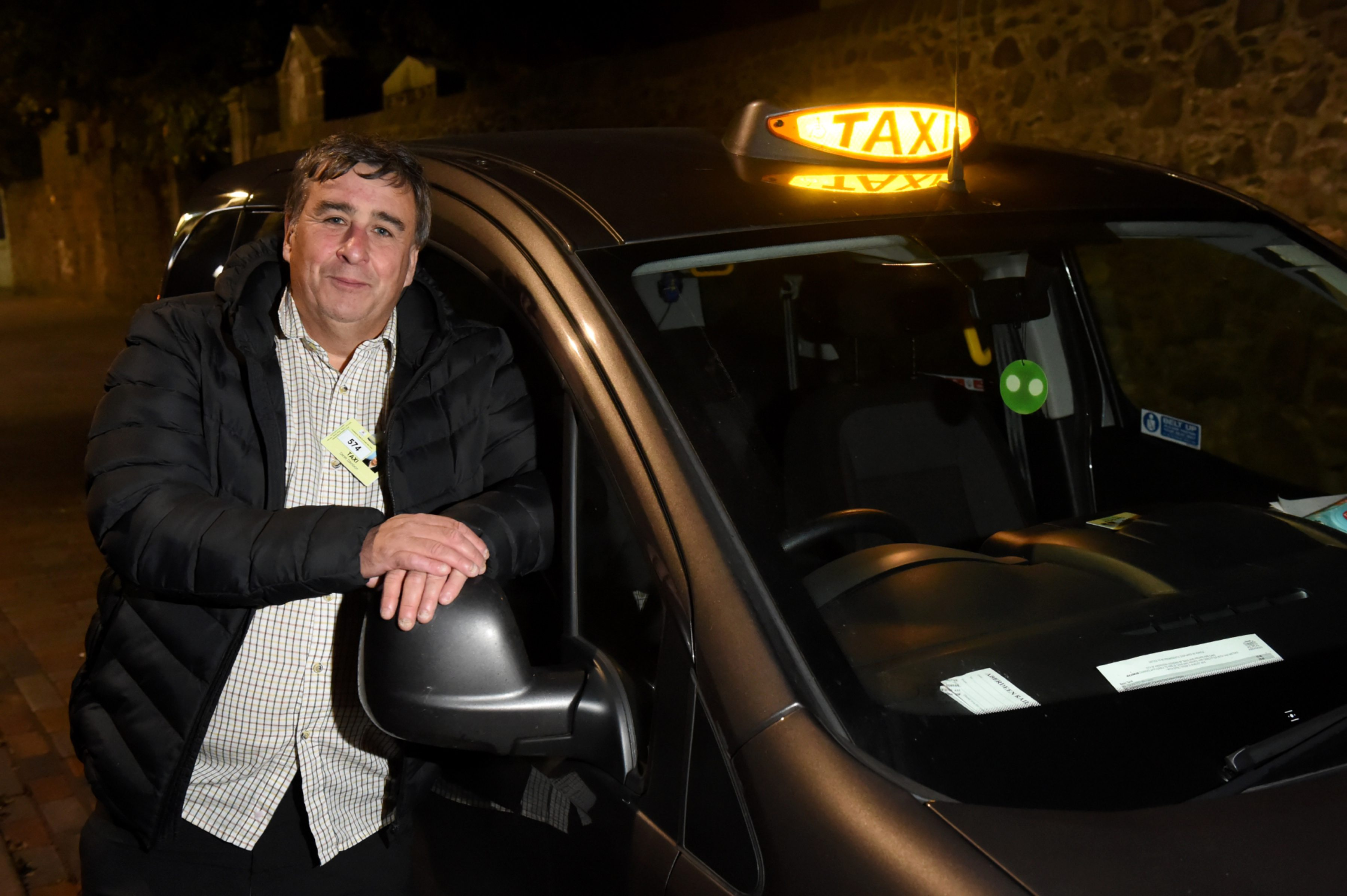 Taxi driver Derek Davidson.   Picture by KENNY ELRICK