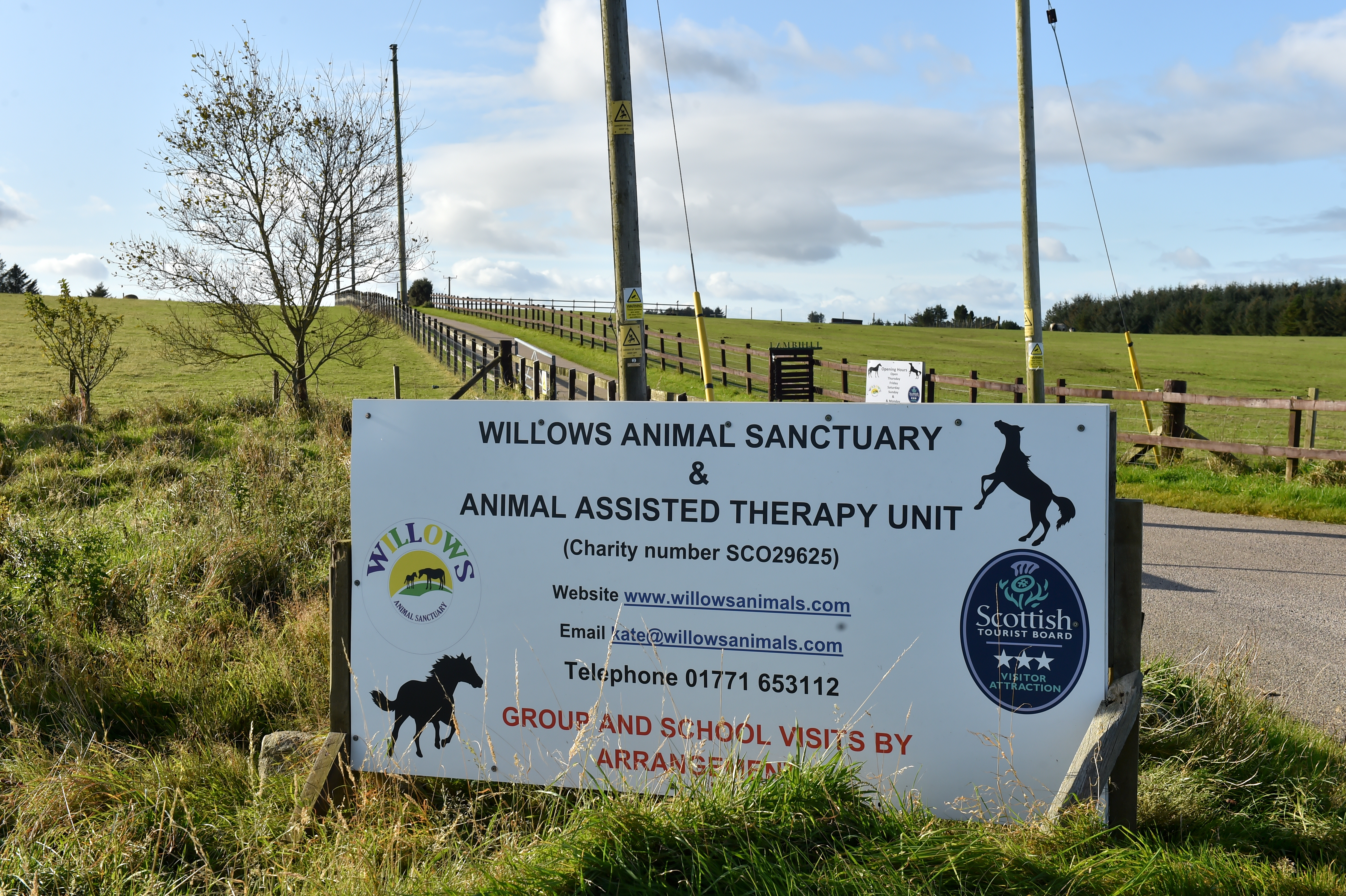 Willows Animal Sanctuary. Picture by Kenny Elrick
