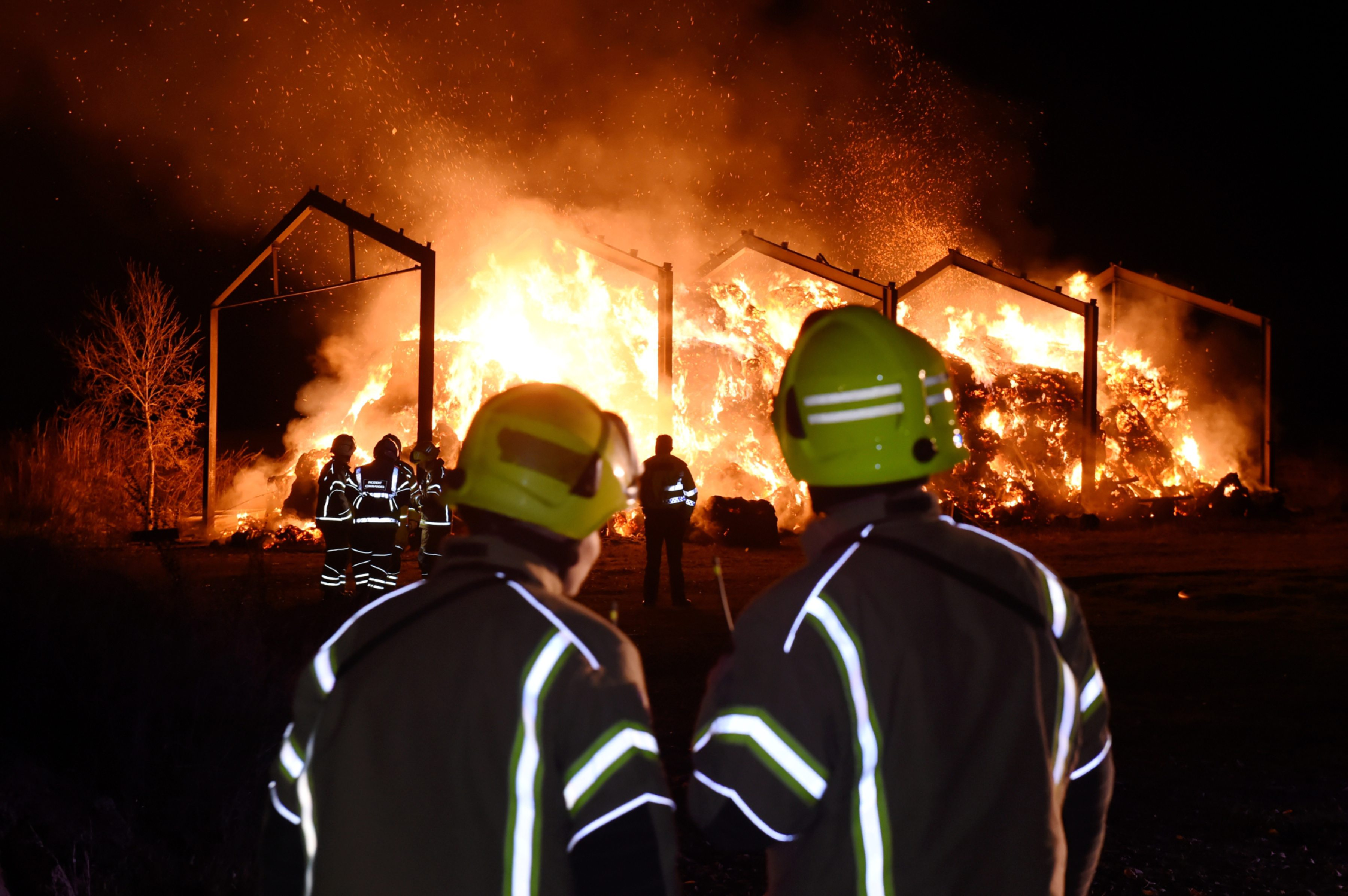 Scottish Fire and Rescue Service at the scene of the fire at a steading in Ellon.  Picture by KENNY ELRICK
