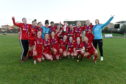 Aberdeen FC Women celebrate their unbeaten title success last term.