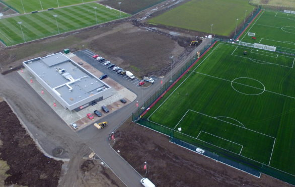 Aberdeen Football Club's new training facility at Cormack Park Picture by Kenny Elrick