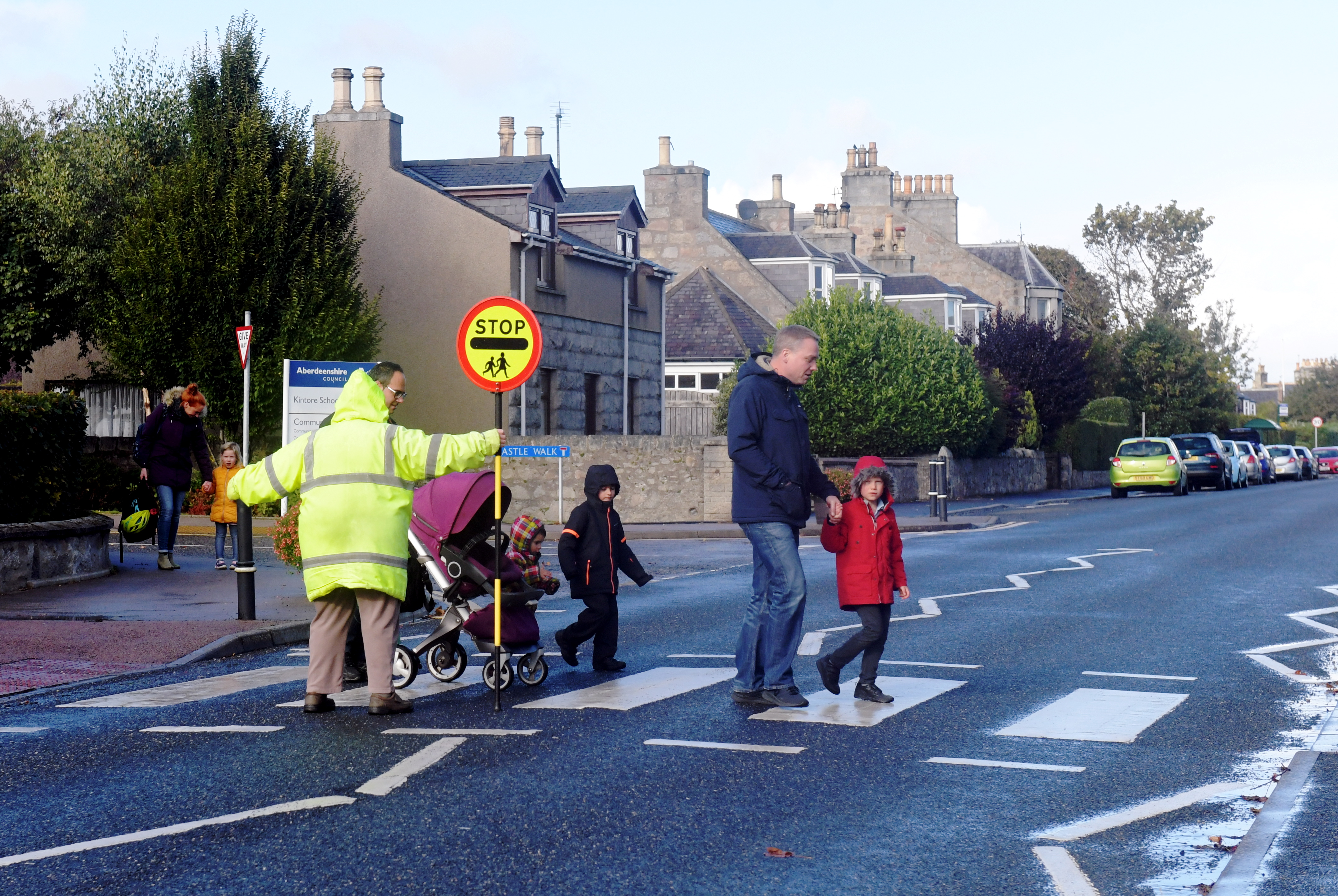 School Road, Kintore, near Kintore Primary School.   Picture by KATH FLANNERY
