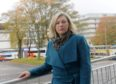 Gillian Martin MSP outside Aberdeen Royal Infirmary. Picture by Kath Flannery