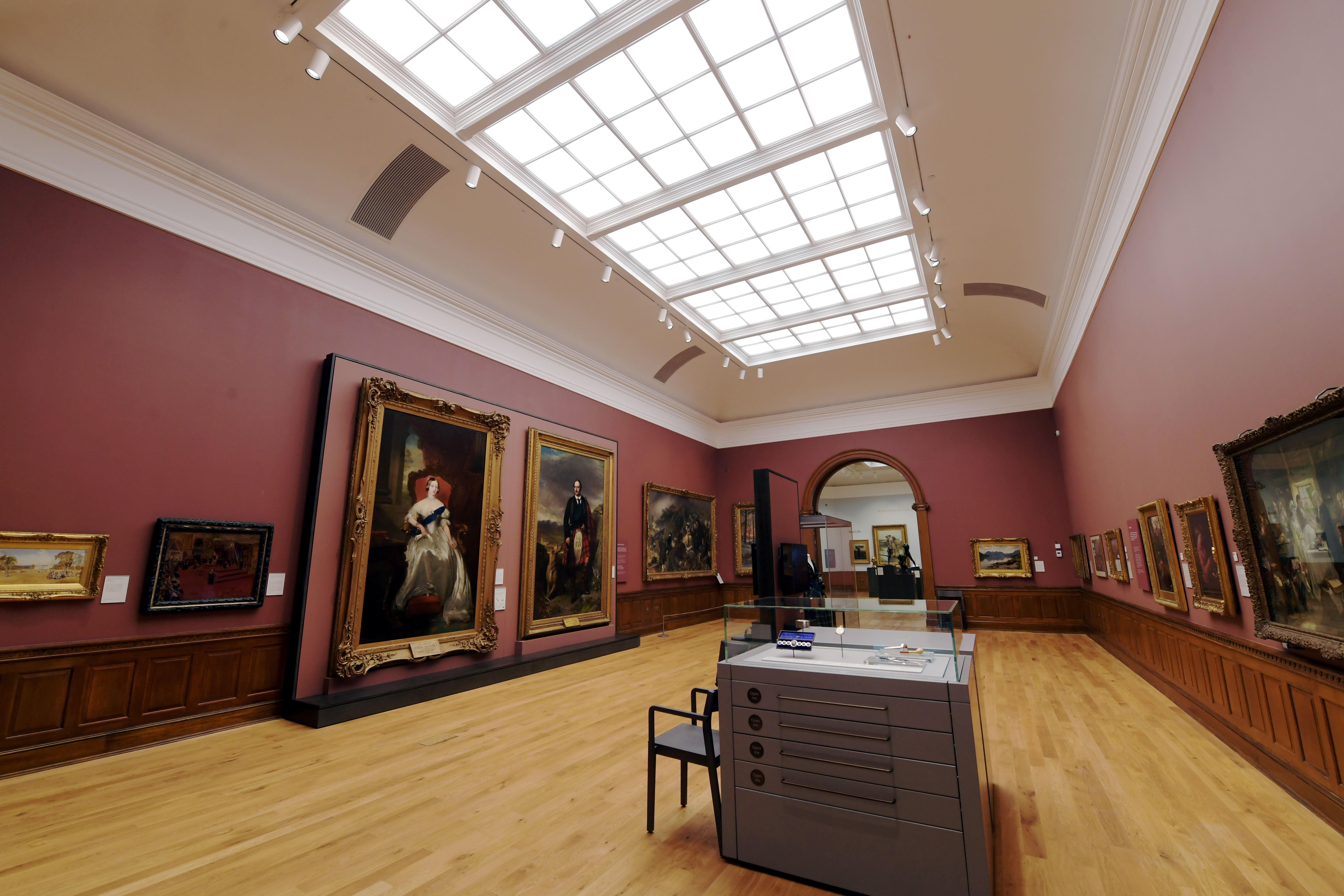 First view of the redeveloped Aberdeen Art Gallery.
