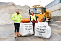 Councillor Sandra Macdonald and Steve Milne - Roads Supervisor.