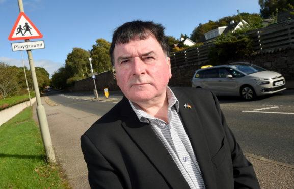 Councillor Ken Gowans on Culloden Road, Inverness