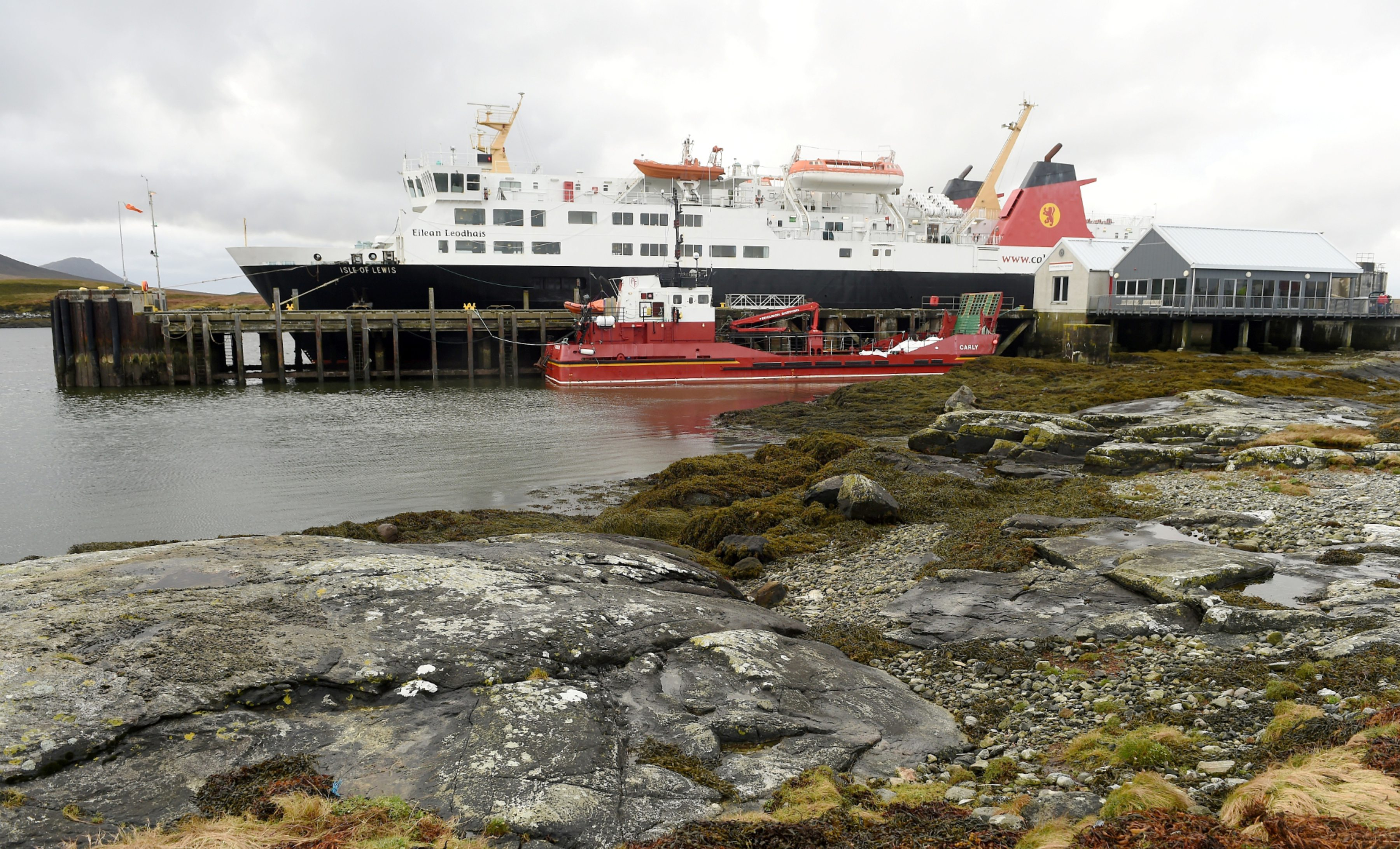 The Caledonian MacBrayne ferry, Isle of Lewis docket at Lochmaddy on North Uist.  Picture by Sandy McCook