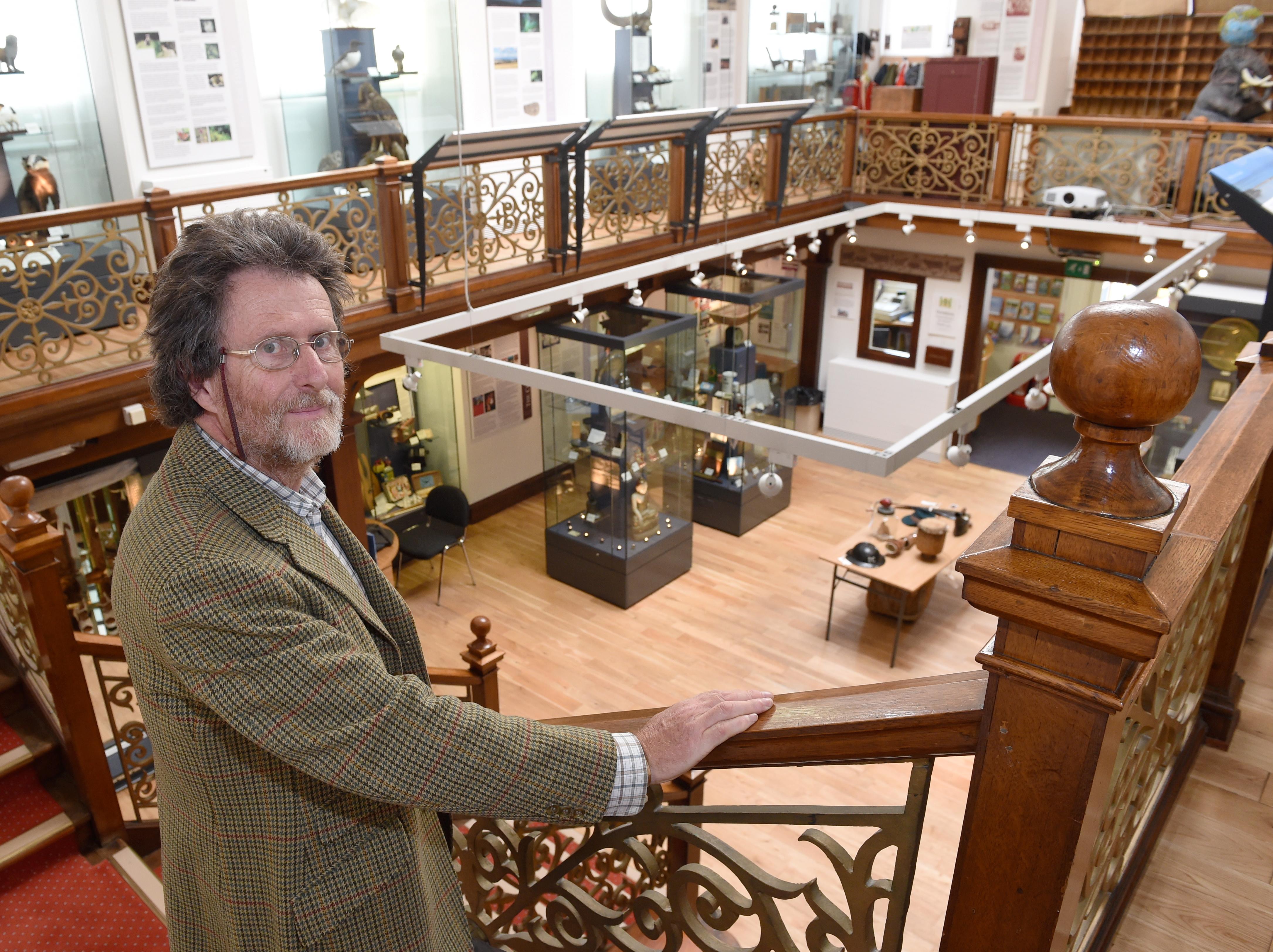 Falconer Museum in Forres. Dr John Barrett of the Friends of The Falconer Museum. Picture by Sandy McCook.