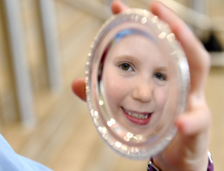Isla Morrison (8) of Nairn, a pupil of Millbank Primary School, winner of the Sabhal Mor Ostaig Silver Medal for conversation. Picture by Sandy McCook.