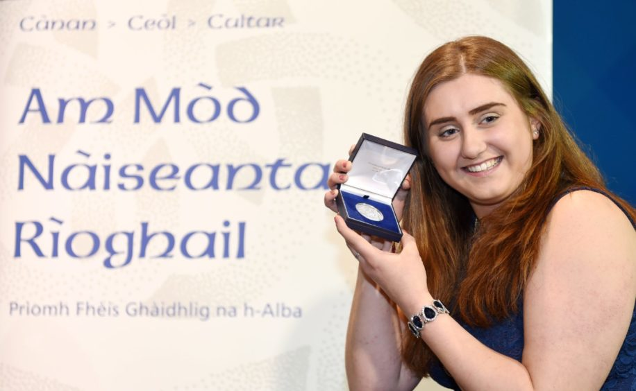 Gaelic Learner of the Year winner Jenny Black from Brechin and studying at Edinburgh University. Picture by Sandy McCook.