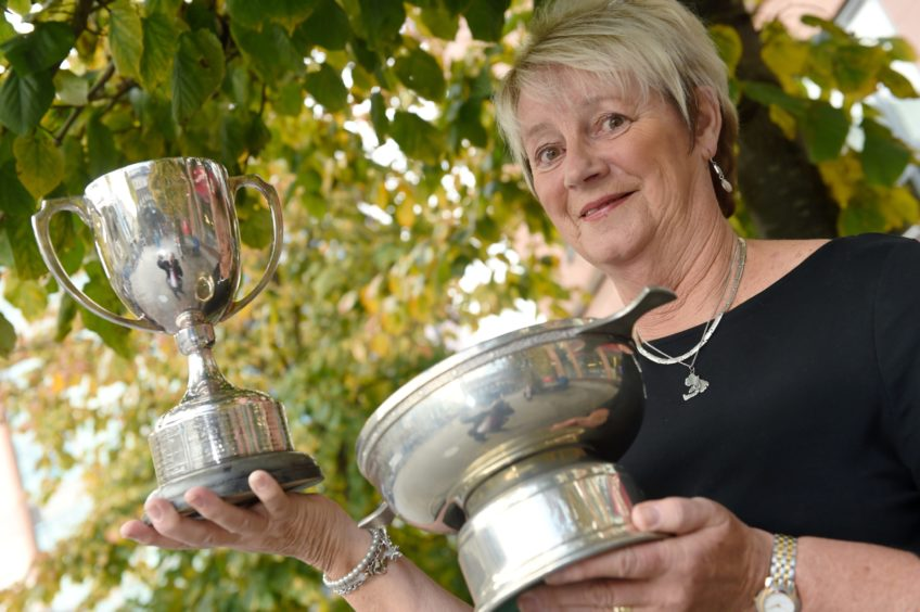 Four times a winner, Janet Campbell of Tobermory, Mull, winner of the Kennedy-Fraser Cup and the Johann Fortune Memorial Trophy. Picture by Sandy McCook.