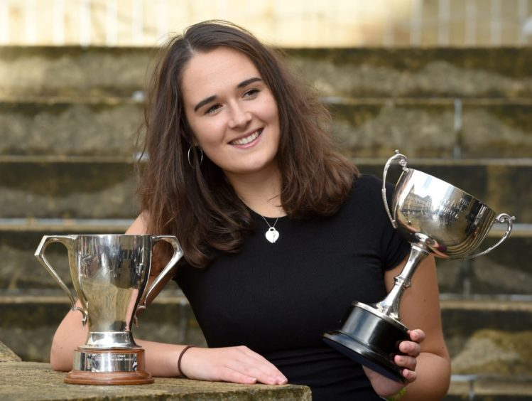 Isabelle Bain of Back in Lewis, winner of the Moray Trophy for traditional singing and a qualifier for the Gold Medal and a half share in the Donald Murray Memorial Trophy. Picture by Sandy McCook.
