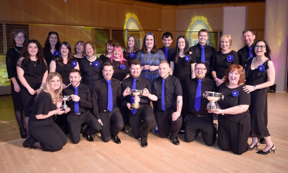 Coisir Ghaidhlig Charlabhaigh, winners of the Puirt-a-beul competition. Picture by Sandy McCook.