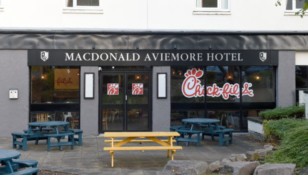 The Chick-fill-A restaurant in the Macdonald Aviemore Hotel.