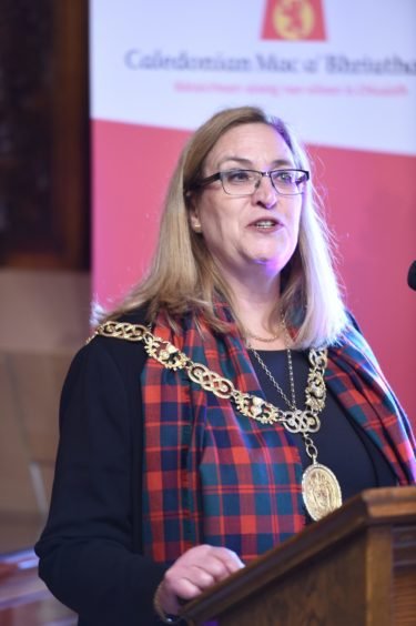 The Lord Provost of Glasgow, Eva Bolander.    Picture by Sandy McCook