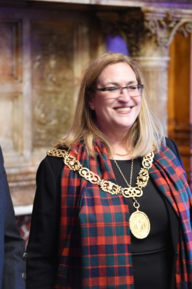 Lord Provost of Glasgow, Eva Bolander. Picture by Sandy McCook.