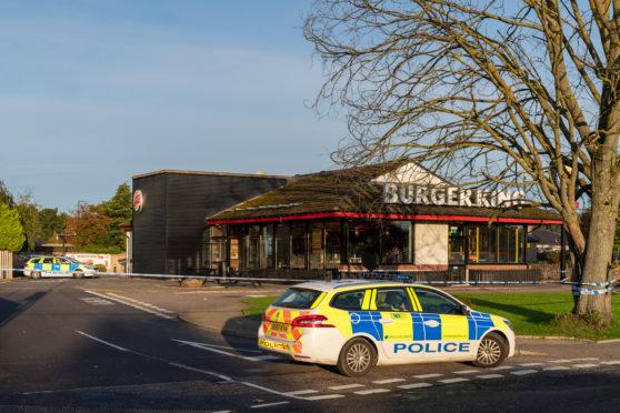 The scene at Burger King, Elgin.