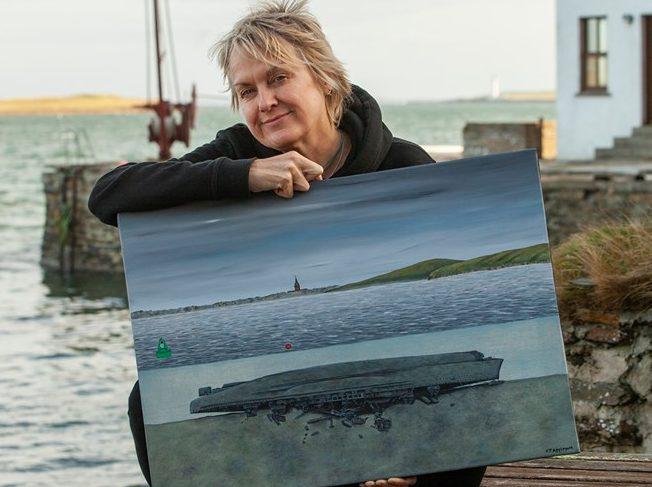 Caroline Appleyard has painted an poignant tribute to HMS Royal Oak. Pic: Marjo Pauliina Tynkkynen