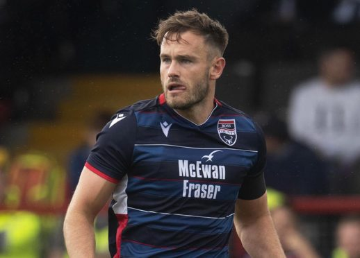 Keith Watson in action for Ross County.