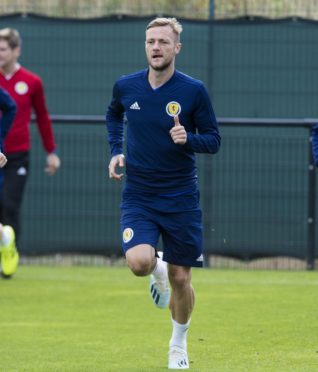 Liam Cooper during a Scotland media session at Oriam, on September 2, 2019, in Edinburgh, Scotland. Photo by Paul Devlin/SNS Group.