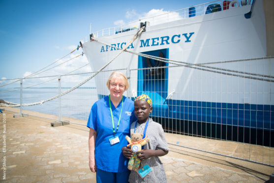 Sandra Campbell from Ellon will volunteer with Mercy Ships