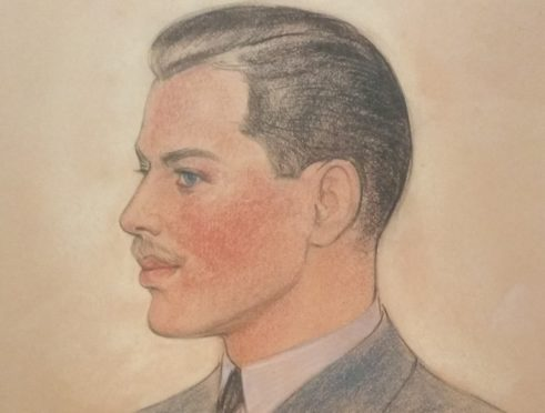 The mystery pilot pictured was painted by Corydon Snyder in Chicago in 1942
