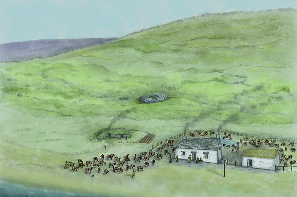 A reconstruction of how the inn would have looked in the 18th Century.